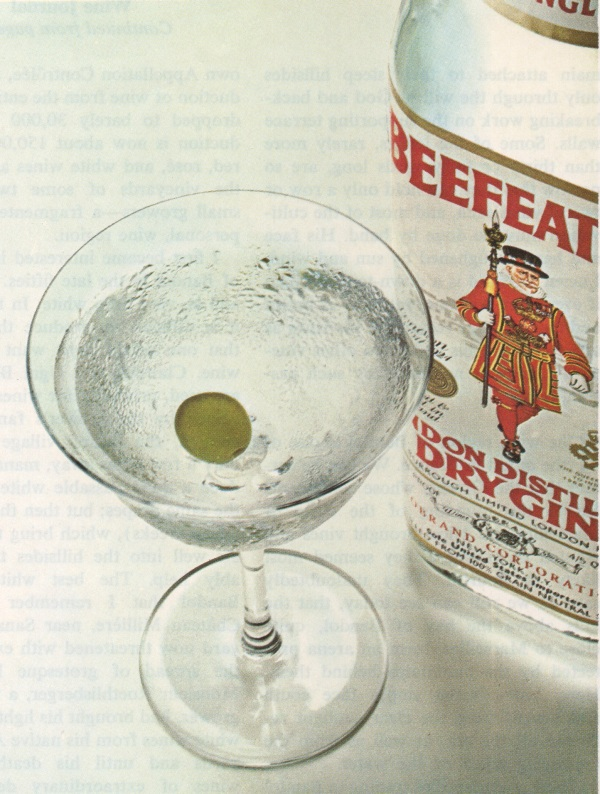 Beefeater ad, detail